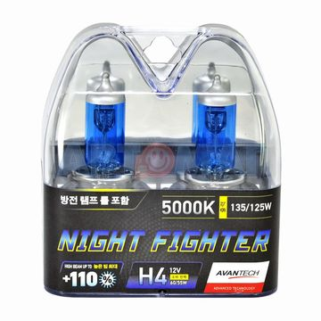Комплект автоламп Avantech Night Fighter H4 60/55W 12V