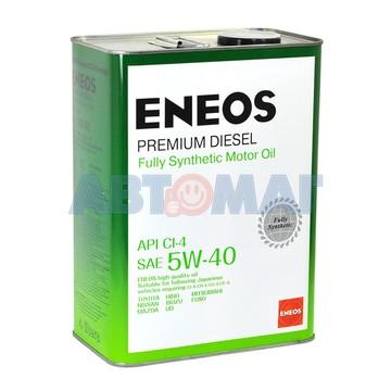 Масло моторное Eneos Premium Diesel CI-4 5w40 4л синтетическое