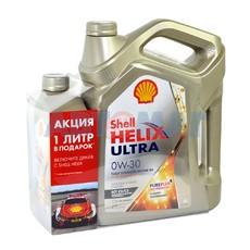 Масло моторное Shell Helix Ultra ECT 0w30 C2/C3 4л синтетическое + 1л в подарок