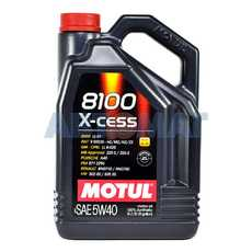 Масло моторное Motul 8100 X-cess 5w40 5л синтетическое