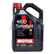 Масло моторное Motul 4100 TurboLight 10w40 4л полусинтетическое