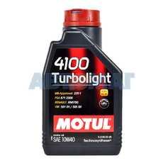 Масло моторное Motul 4100 TurboLight 10w40 1л полусинтетическое