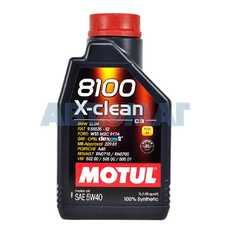 Масло моторное Motul 8100 X-Clean C3 5w40 1л синтетическое