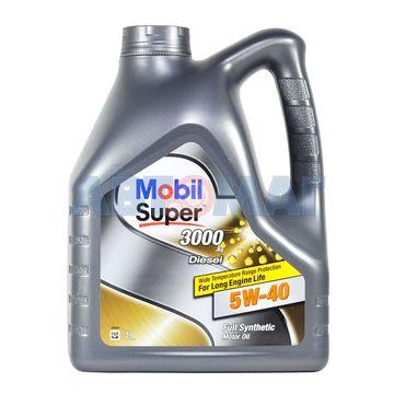 Масло моторное Mobil SUPER 3000 X1 Diesel 5W40 4л синтетическое