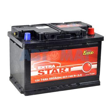 Аккумулятор EXTRA START (Катод) - 74 А/ч 680А +D