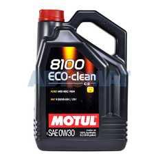Масло моторное Motul 8100 Eco-Clean 0w30 С2 5л синтетическое